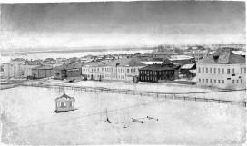 Улица Набережная, зима
