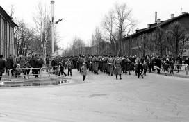 1-е мая 1972 года, перекресток ул. Интернациональная и Коммунистическая