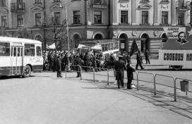 1-е мая 1972 года, перекресток ул. Ленина и Бабушкина