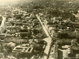Перекресток улиц Советская и Бабушкина с высоты