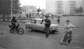 Перекресток улиц Коммунистическая и Старовского