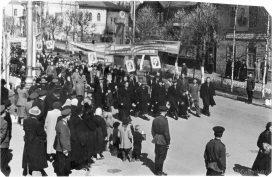 Первомайская демонстрация на ул. Советской