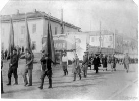 Демонстрация на ул. Кирова